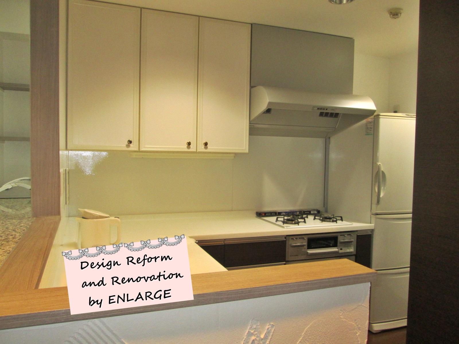 憧れのL型キッチンと真っ白な漆喰壁で心機一転