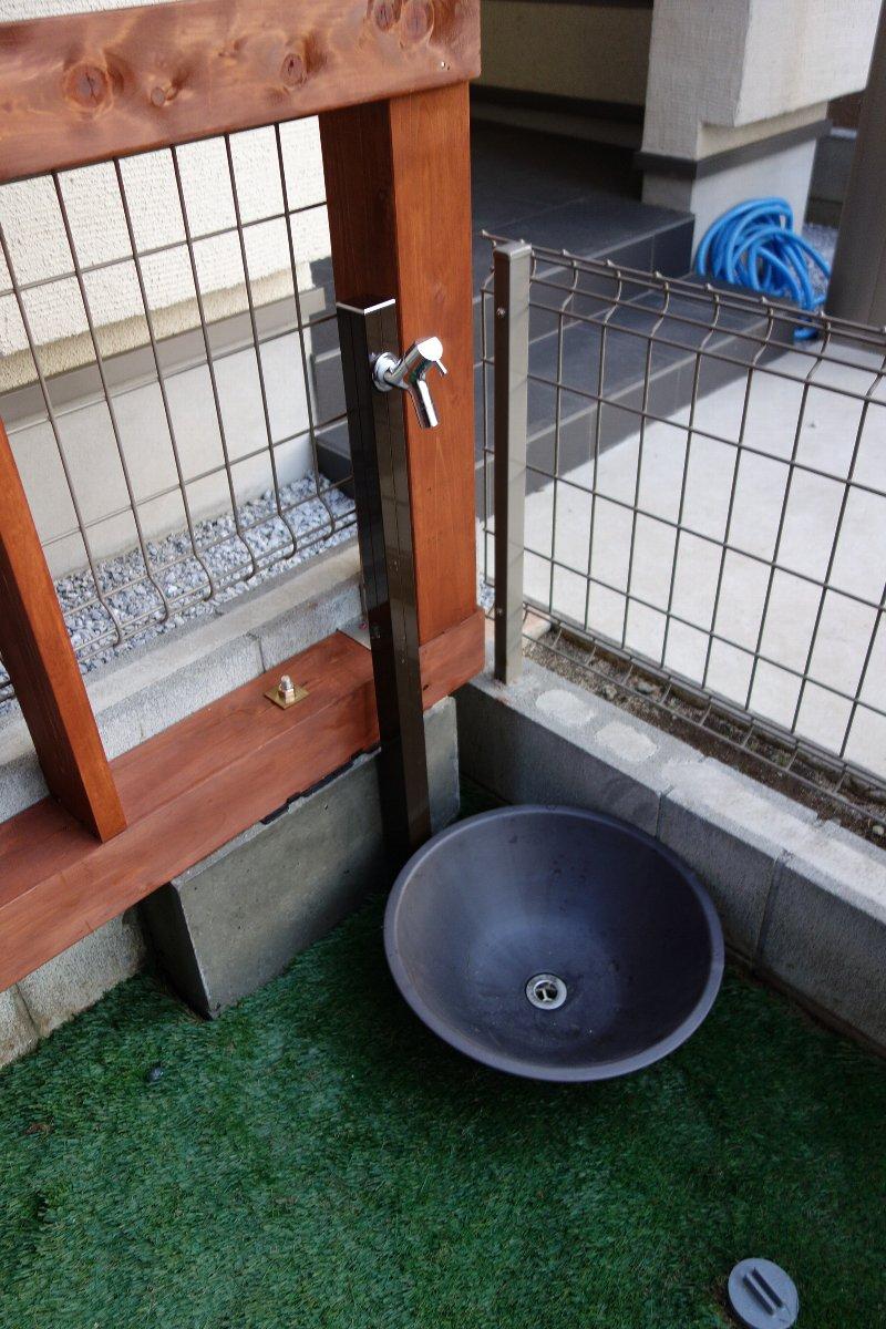 金彩水鉢 ブラック