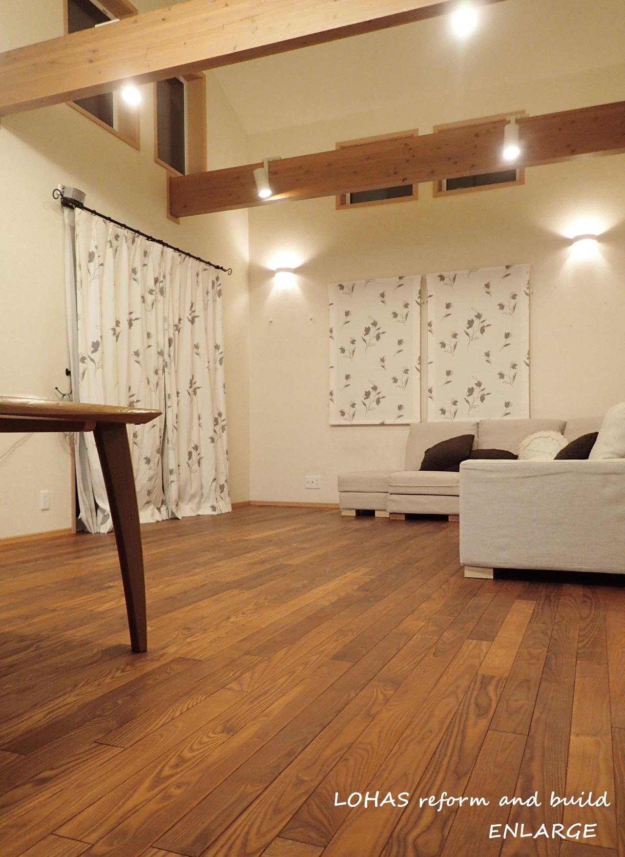 こだわりの無垢床と床暖房で、心安らぐ温かい住まいへ ♪あったかいんだからぁ♪