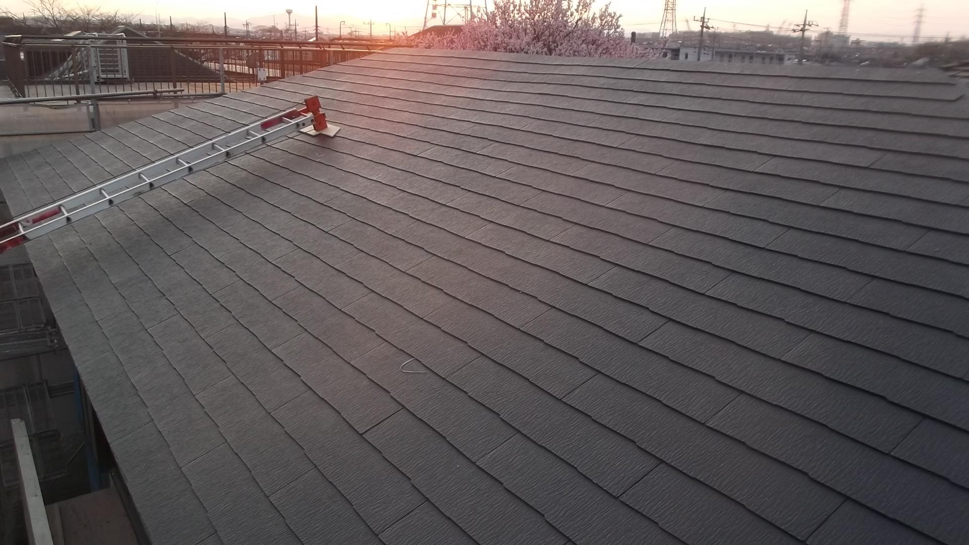 スレート屋根完成