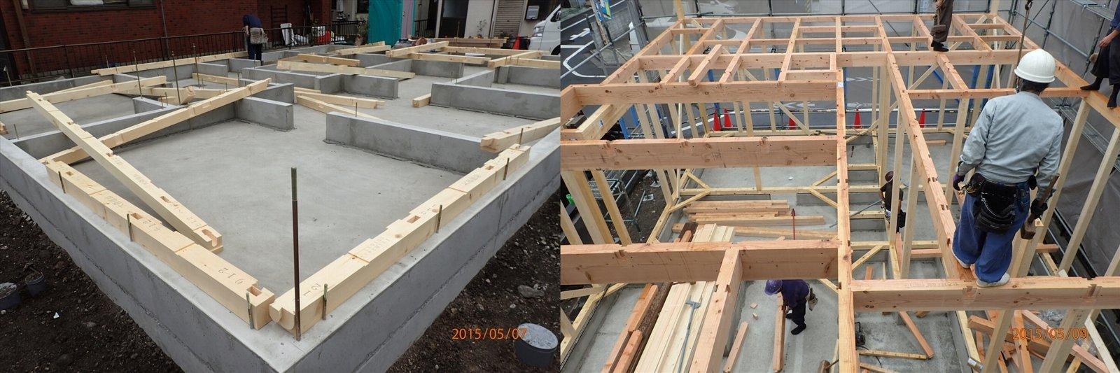 3土台・建方
