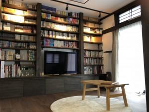 造作のテレビ台&書棚