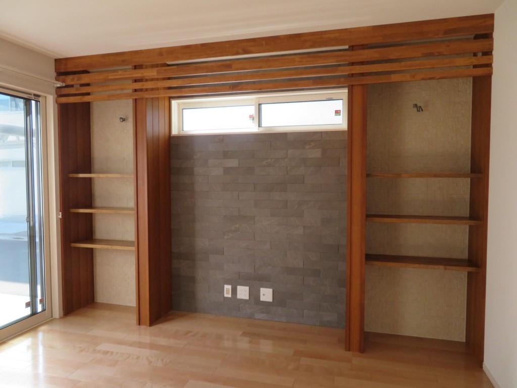 完全オリジナルの造作棚