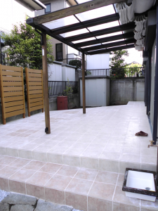 庭石を再利用して、広く明るいお庭に!