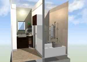 造作洗面&浴室リフォーム完成!