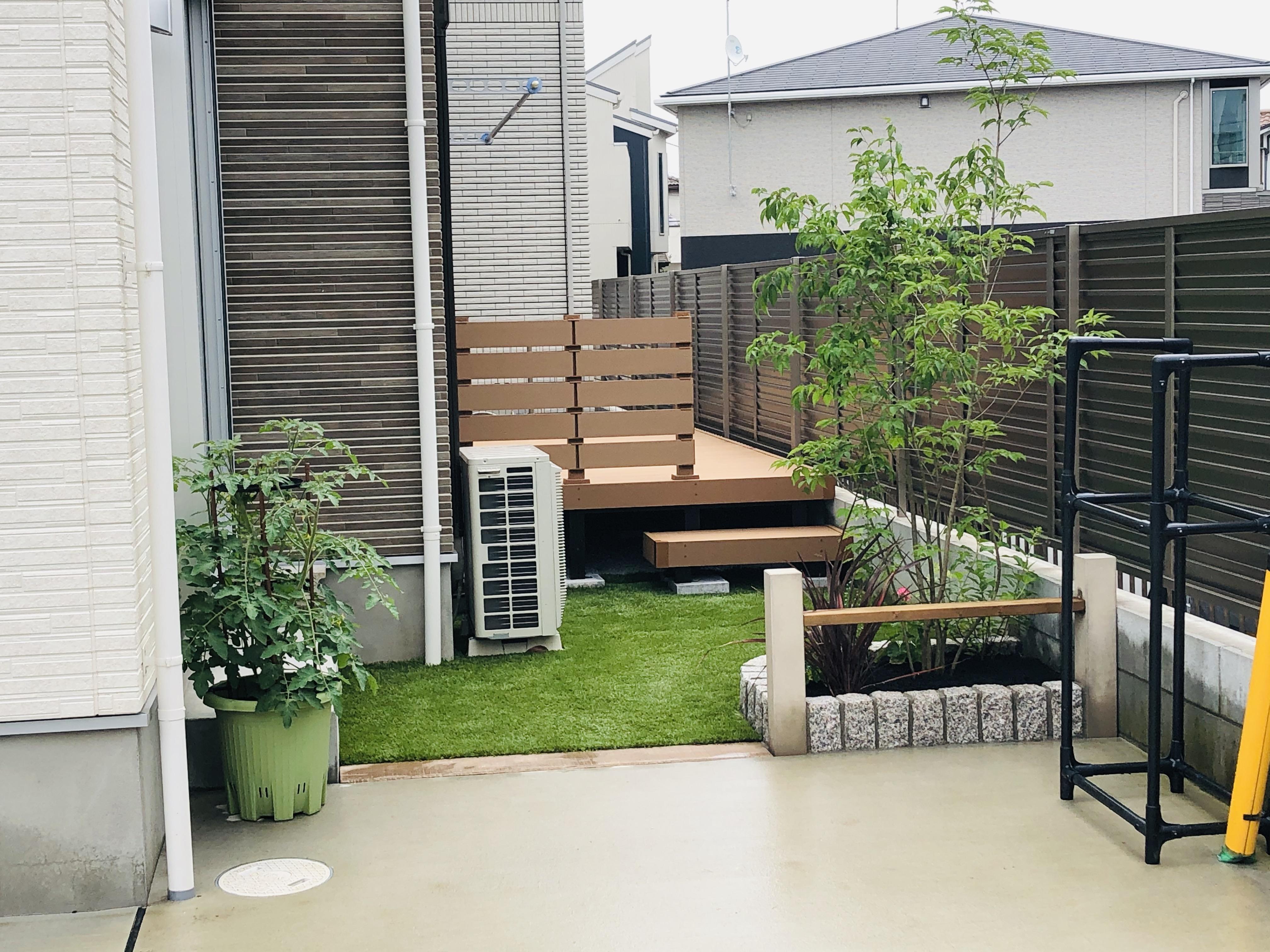 家で過ごすのが楽しくなる庭になりました!