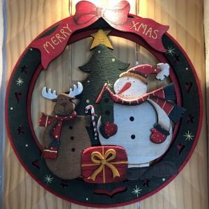 クリスマス リース サンタ トナカイ