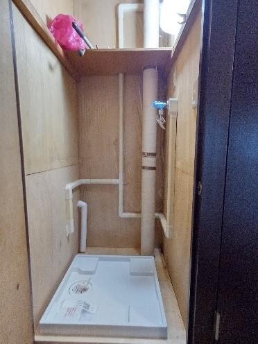 団地リノベ 洗濯機 置き場