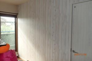 工事後:二分割された子供部屋